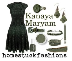 """Kanaya Maryam"" by hollowzo ❤ liked on Polyvore featuring Alexander McQueen, Kylie Minogue, tarte, Bare Escentuals, Azhar, Chan Luu, Sydney Evan, Frye, fancystuck and kanaya maryam"