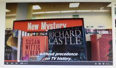 From one of the Castle TV episodes (don't know which--a reader sent this). The Dahlias are thrilled to see their book on Castle!