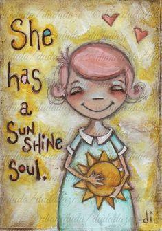 Imágenes de Diane Duda: Dibujos de niñas con frases hermosas | Imagenes y Frases para Facebook