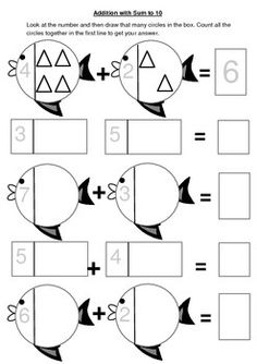 Explore addition through the use of pictures and number correspondence