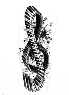 Tattoo+series+-+Violin/piano+key+by+StereoiD.deviantart.com+on+@deviantART