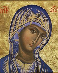 Theotokos - Russian Orthodox Icon 12 by Ludmila Andersson Religious Images, Religious Icons, Religious Art, Byzantine Icons, Byzantine Art, Greek Icons, Religion Catolica, Russian Icons, Russian Orthodox
