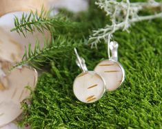 Birch Bark Earrings woodland resin earrings with by UralNature