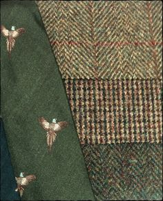(2/2) The J. Press Autumn Trunk Show is coming up. Looking at Harris Tweed swatches - and an appropriate tie - with Bunny. Which one shall I have done up this year?