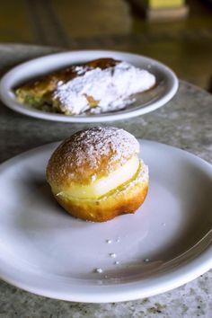 Custard donut at Casa de Farinha Panificadora - Praia de Pipa, Brazil | heneedsfood.com