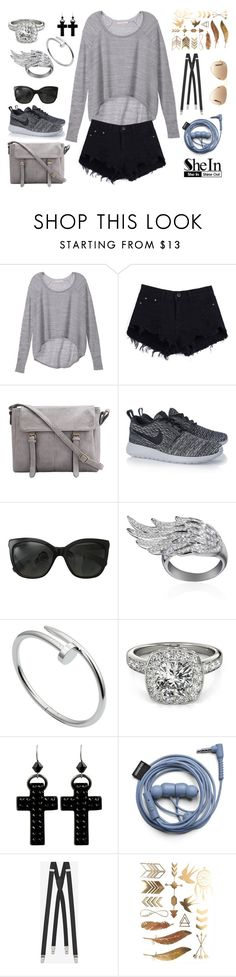 """wannaaaaa"" by salmadannone ❤ liked on Polyvore featuring Victoria's Secret, NIKE, Chanel, AS29, Cartier, Allurez, Tarina Tarantino, Yves Saint Laurent and Ray-Ban"