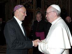 El Papa FRANCISCO con el rabino Sergio Bergman,encuentro cordial de grandes amigos.