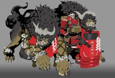 Japanese Yokai, Character Inspiration, Character Design, Lion Dog, Weird Creatures, Fantasy Artwork, Manga, Occult, Fantasy Characters