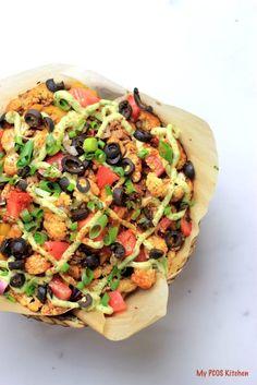 Paleo Cauliflower Nachos #glutenfree #grainfree #lowcarb #keto #LCHF #paleo