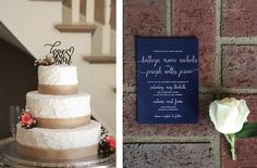 Stunning classy navy wedding invitation. View more from this Southern wedding in Nashville with a lovely plantation vibe and navy details, captured by @looneybinkids | The Pink Bride® www.thepinkbride.com