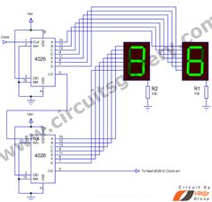 Here is a Simple 4026 Manual Digital Counter Circuit with