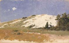 Cape Cod, Sand Dune, 1894, Herman Hartwich, oil on canvas, 13 1/2 x 21 3/8 in. (34.2 x 54.2 cm), Smithsonian American Art Museum, Gift of Emily Dorothy Ammann