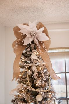 Custom coordinating burlap Christmas tree by TheBurlapCottage, $85.00