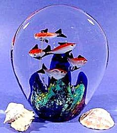 Glass Tropical Fish Paperweight  ~ Paper Weight