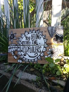 You Belong Among the Wildflowers Wood Pallet Sign by HOPEandSTAY