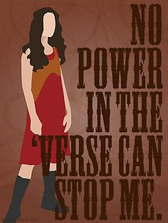 """River Tam - No Power In The 'Verse Can Stop Me"" Photographic Prints by forevermelody 