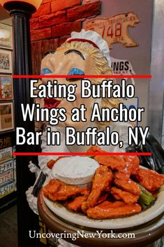 Trying Buffalo wings at the Achor Bar, home of the original Buffalo wings is a must when visiting Buffalo, New York. Buffalo Wings, Buffalo Bar, Buffalo City, Buffalo New York, Buffalo Airport, New York Chicken, New York Essen, Clean Eating Desserts, Eating Healthy