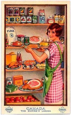 The Empire's Larder is part of Vintage housewife - vintage postcard stock up! Vintage Ephemera, Vintage Cards, Vintage Postcards, Vintage Labels, Photo Vintage, Retro Vintage, Vintage Apron, Vintage Clip, Vintage Style