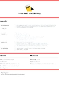 Free Agenda Templates For Meetings New Free Meeting Agenda Template  Xtensio  Pinterest  Effective .