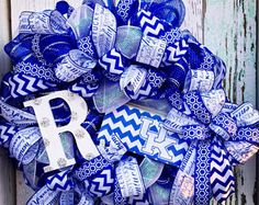 Father's Day Gifts, Kentucky Wildcats Wreath, Kentucky Wreath, Kentucky Wildcats, Kentucky Decor, UK Basketball Wreath, Sports Team Wreath - Edit Listing - Etsy