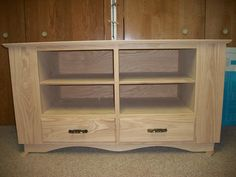 TV stand before stain and varnish