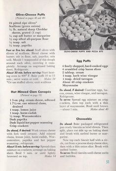 """Do-Ahead Appetizer Recipes from """"Good Housekeeping's Appetizer Book"""" 