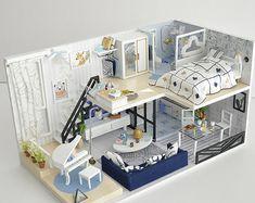 casa the sims house design - casa house design ; casa the sims house design ; Sims 4 House Design, Tiny House Design, Moodboard Interior, Loft Room, Apartment Layout, Cute House, Diy Dollhouse, Dollhouse Furniture, Interior Design