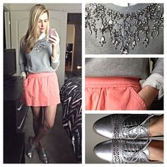 styling metallic oxfords- Karla Reed's instagram