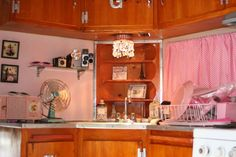 Love the angled kitchen
