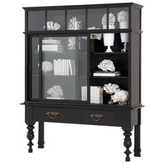 Eichholtz Cabinet Barney ($4,050) ❤ liked on Polyvore featuring home, furniture, storage & shelves, display units, interior design, dining, drawer furniture, glass furniture and glass curio cabinet
