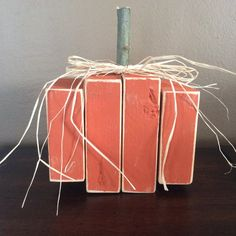 2x4 wooden PuMpKiN decor by ThatsSewPersonal on Etsy, $8.00