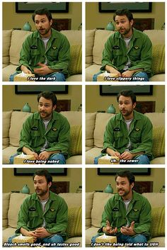 The wit and wisdom of Charlie Kelly. Charlie Kelly, Charlie Day, Comedy Tv, Comedy Series, Netflix Series, Funny Memes, Hilarious, Sunny In Philadelphia, It's Always Sunny