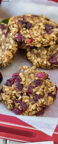 I LOVE this healthy cookie recipe for Cherry Almond Oatmeal Cookies!!! They are always a huge hit at my house.