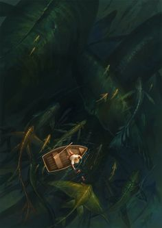 Fishing, by Sandara. There are deep places in the land of the Fae, with beautiful and horrible things beneath the surface.