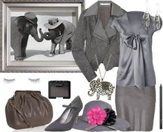 "Nature Inspiration #11: Elephant -- From the stylist, ""I would say this is is more office Elephant."""
