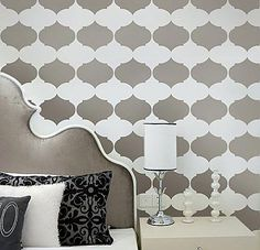 Wall Stencil Designs | Allover stencil patterns for walls. Large stencil collection for easy ...