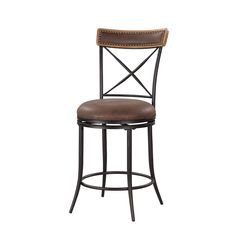 Linon x Back Metal Counter Stool - Overstock™ Shopping - Great Deals on Linon Bar Stools