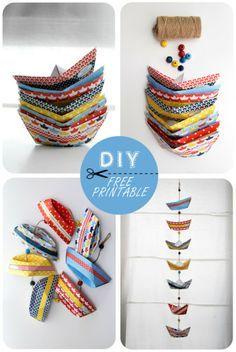 Paper boats, free printable                                                                                                                                                      Más