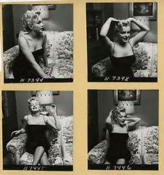 1956 Marilyn Monroe Earl Leaf Contact Sheet Pin Up ...