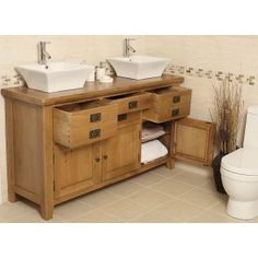 Rustic Oak Bathroom Vanity 