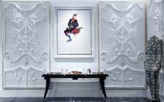 Alexander McQueen London | Luxury Menswear Store Design Gypsum Design, Interior Walls, Interior Design, Shoe Store Design, Focal Wall, Rococo Style, Amazing Spaces, Commercial Interiors, Home And Living