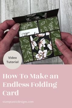Card Making Templates, Card Making Tips, Card Making Tutorials, Card Making Techniques, Flip Cards, Fancy Fold Cards, Pop Up Cards, Folded Cards, Never Ending Card