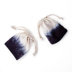 Dip Dyed Bags for our Cedarwood & Lavender Candle!