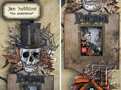 if you're looking for party decor ideas this halloween, today's project from jan hobbins will certainly creep your curiosities. this ornamental shadowbox features several dies from sizzix along wi...