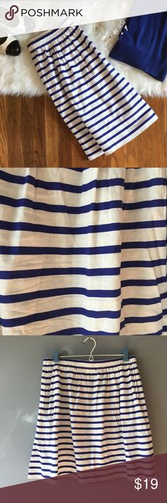 EUC J Crew Striped Skirt Size 10 In fantastic condition. J. Crew Skirts