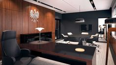 The first version of the ministerial cabinet in Warsaw / Projekt wykonawczy aranżacji wnętrz zespołu gabinetu ministerialnego. Projekt zrealizowano w 2014 r.