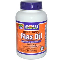 Now Foods, High Lignan Flax Oil, Certified Organic, 1000 mg, 120 Softgels
