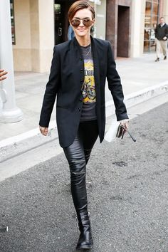 """waysify What's Your Fashion """"Thing""""? 14 Women Weigh In #refinery29  http://www.refinery29.com/personal-style#slide-6  Ruby Rose, Actress""""I'm really into authentic vintage tees, especially band tees from Nirvana, Guns N' Roses, and Metallica. I love them! Certain things are just timeless; I love old rock and vintage tees, so I wear them over and over again. I'll go to vintage stores, but you do run the risk of them being knockoffs. There' s a place in L.A., <a href=""""http://kellycole.c..."""