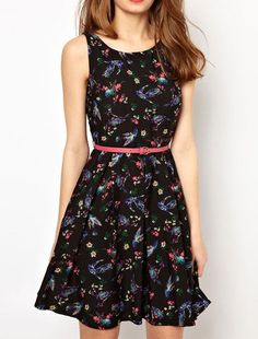 Summer Style | Floral Print, Zipper in Back, Chiffon Dress. Dresslily.com