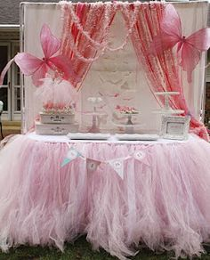 tulle table covering